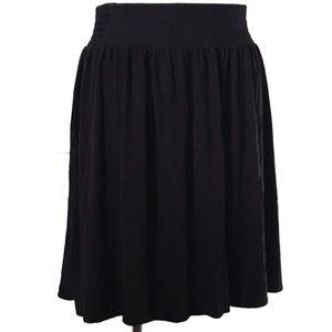Lane Bryant Black Knit Skater Skirt Size 26/28 004